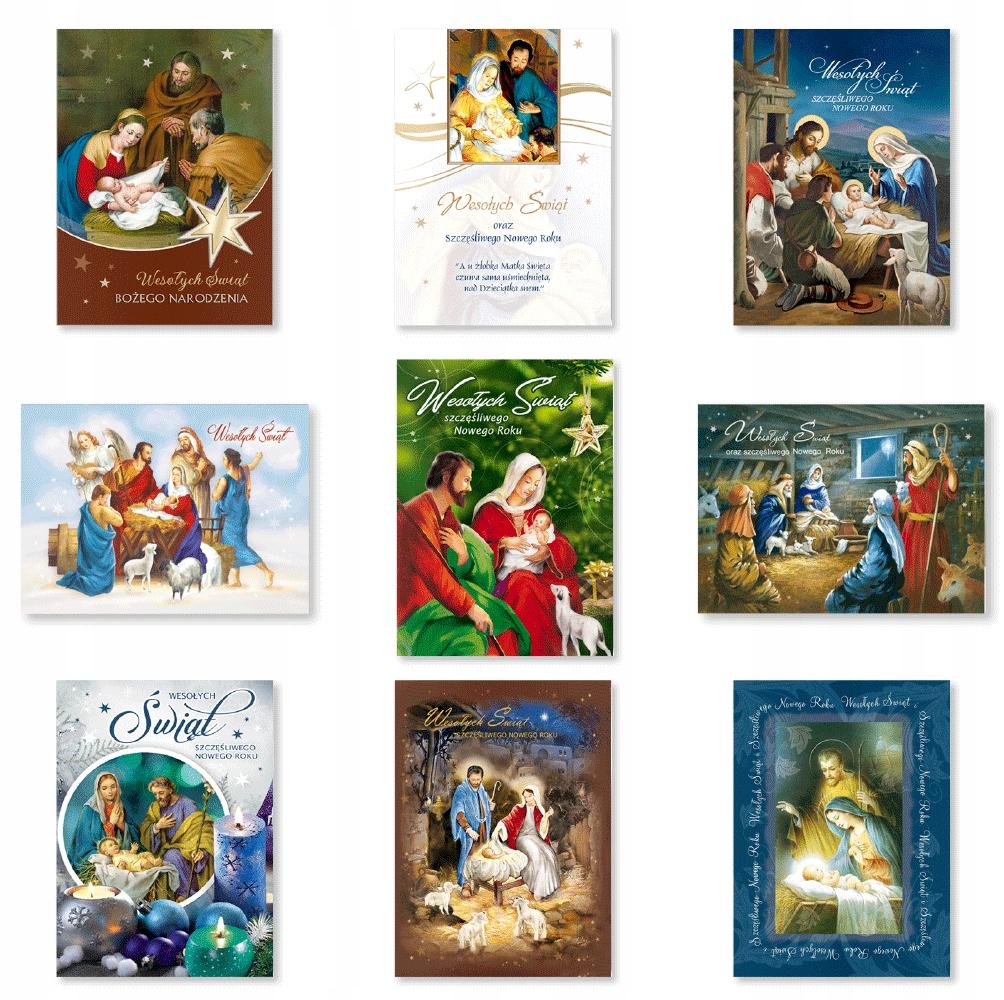 Kartki świąteczne z życzeniami zestaw mix9szt BR1S