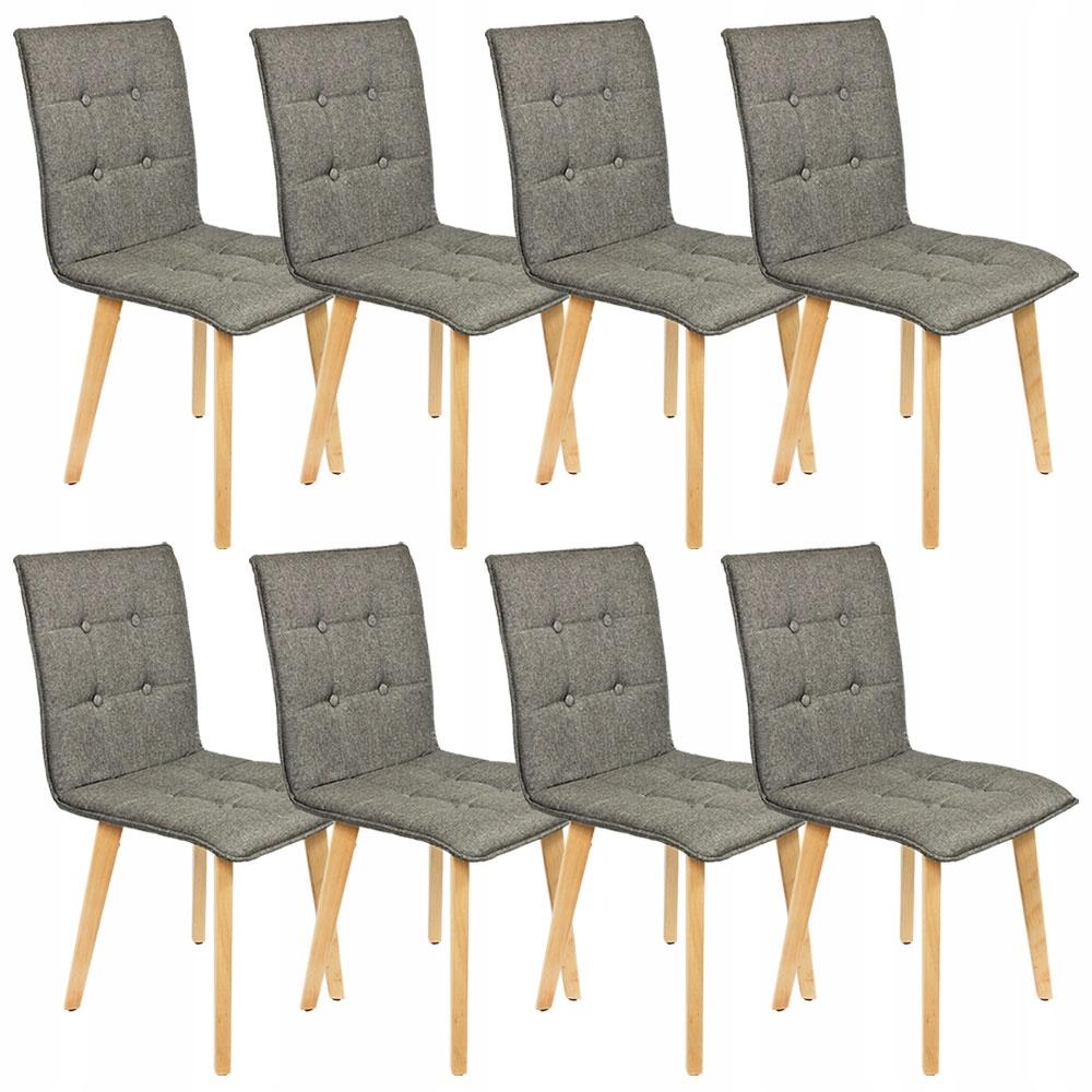 Sada 8 jedálenských stoličiek v retro sivom dreve