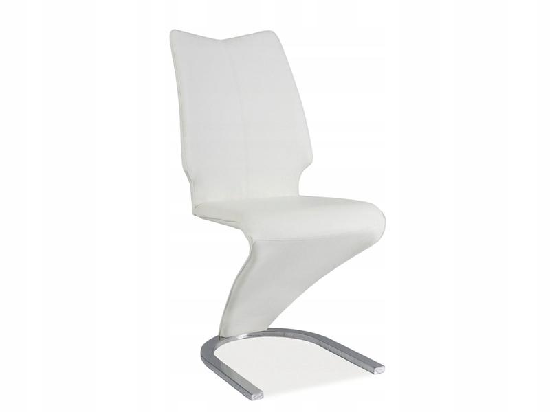Moderné stoličky WHITE / CHROME koženkové / kov