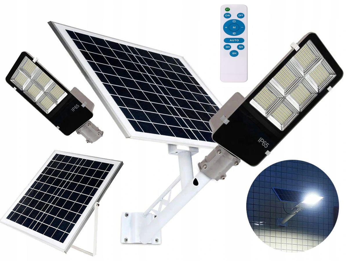 SOLARNA LAMPA ULICZNA LED 300W JD-6300PIR 7 TRYBÓW