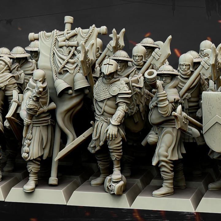 Highlands Miniatúry 8 x muži na Arms + 3 x príkaz