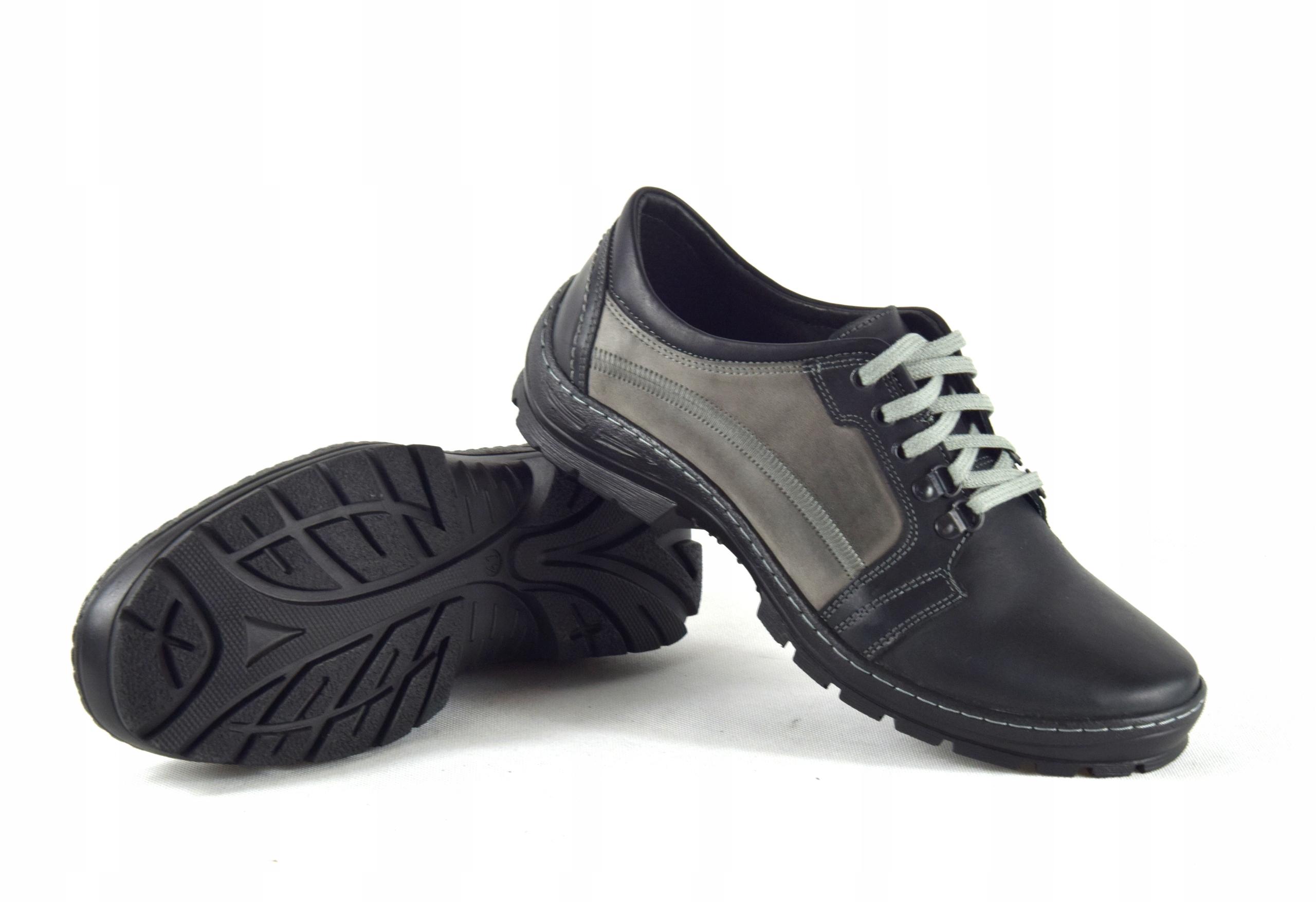 Półbuty trekkingowe męskie buty skórzane PL 192 Oryginalne opakowanie producenta pudełko