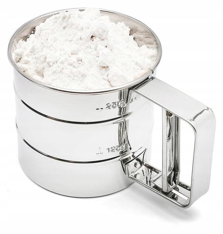 Przesiewacz do mąki cukru pudru przesiewak sitko