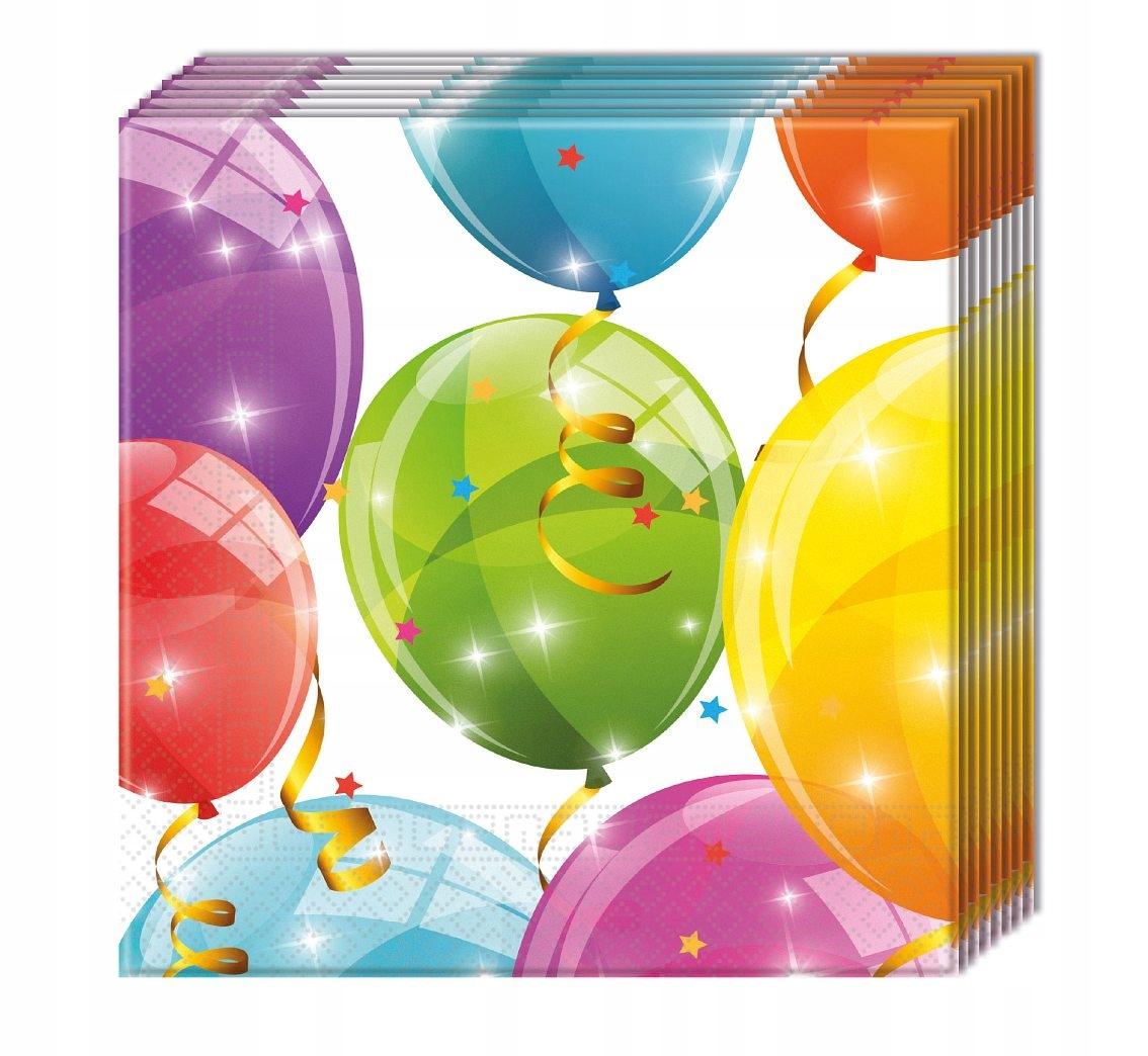 Serwetki papierowe w balony na urodziny 1-99 20szt
