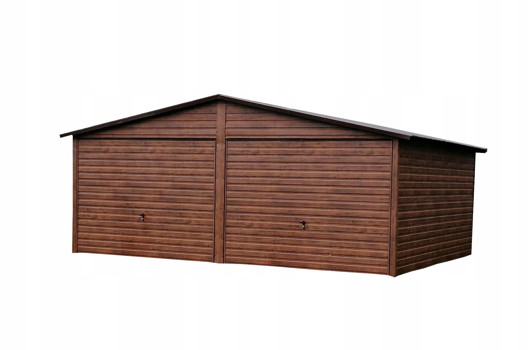 Garaż Blaszany Drewnopodobny Blaszak Premium 6x5