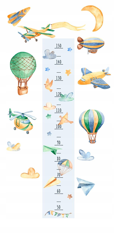 Наклейка GROWTH RULER самолеты ракетные шары