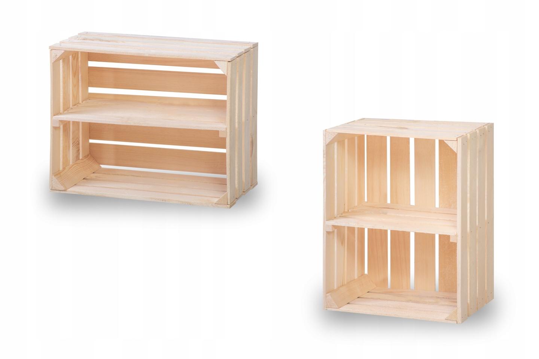 Ящики деревянные с полкой, ящик 50х40х30