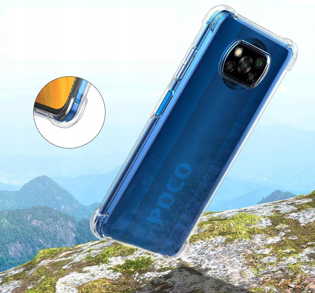 Etui do Xiaomi POCO X3 NFC ANTI-SHOCK + Szkło Kolor bezbarwny