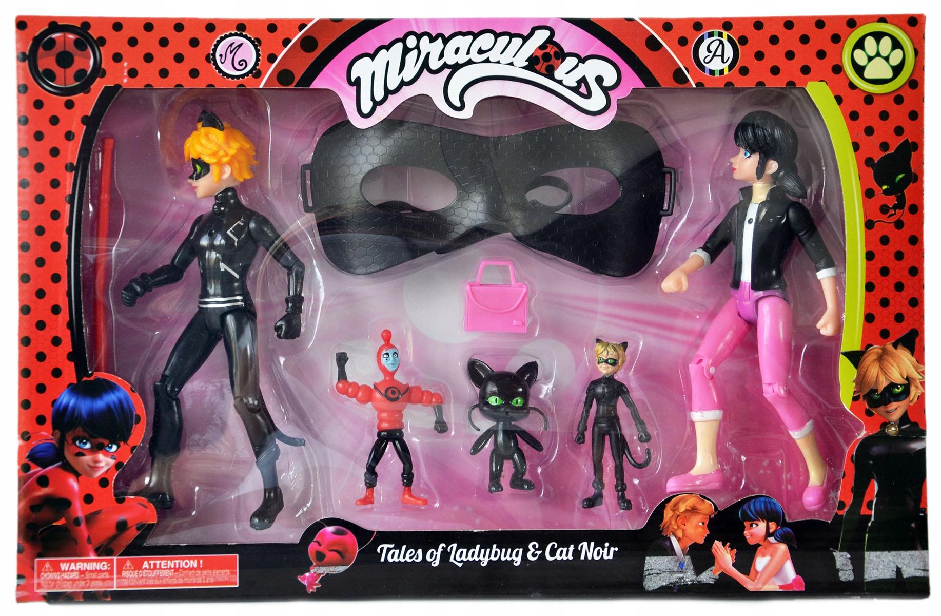 Figúrky Beruška a čierna mačka MIRACULUM CANDLE