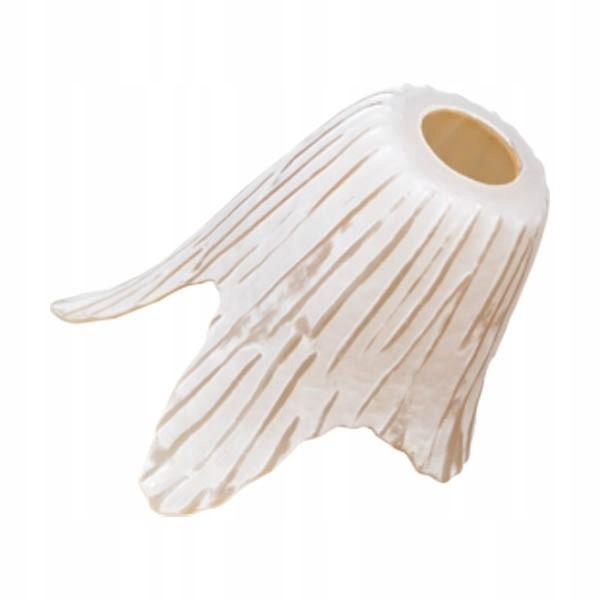 Стеклянный абажур в виде цветочной чашки, бежево-белый