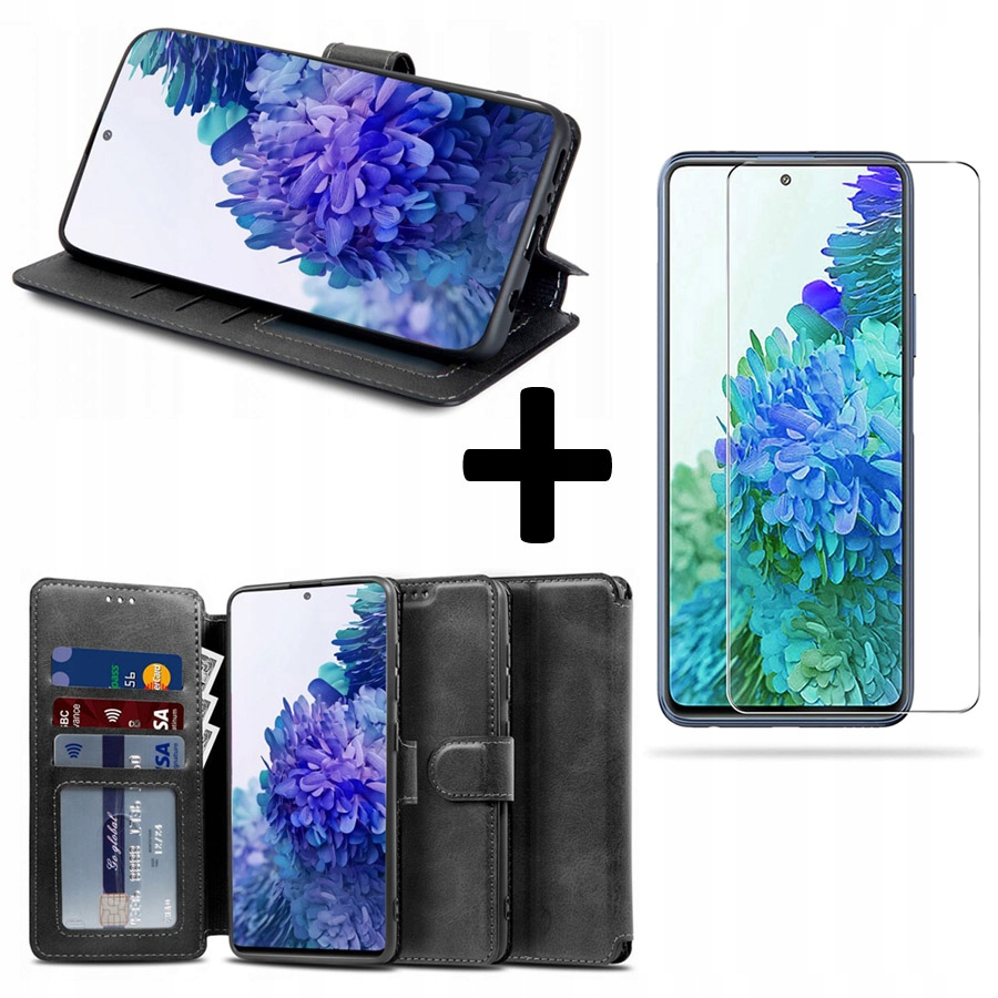 Etui Portfel+ szkło 9H do Samsung Galaxy S20 FE