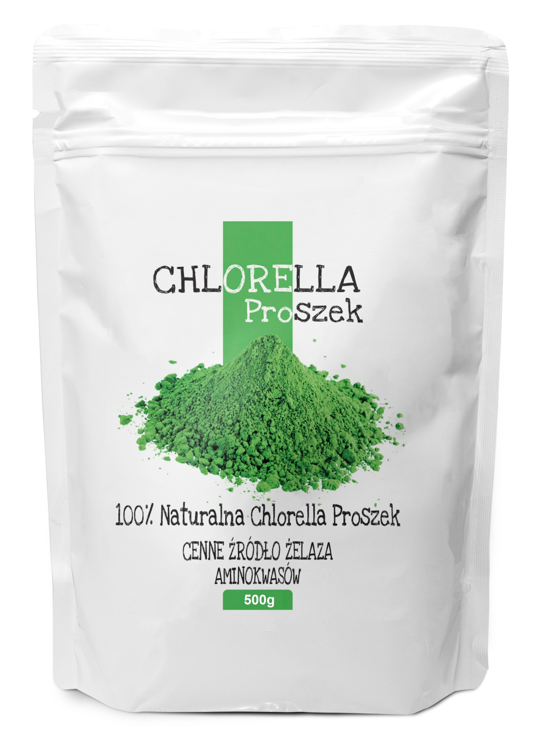 CHLORELLA 500g proszek naturalna, algi / BIOSWENA