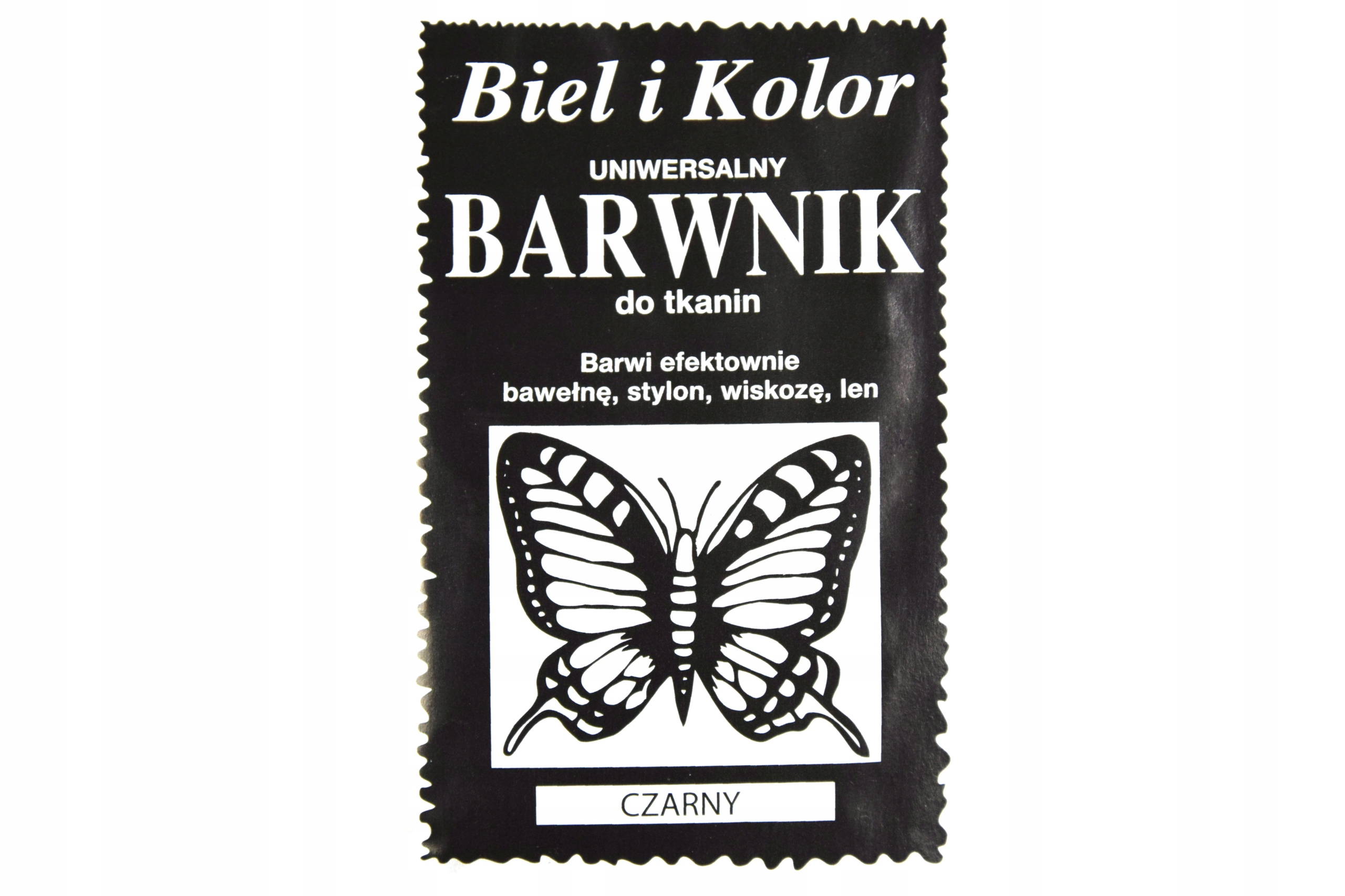 Краситель для ткани - Белый и цвет - черный