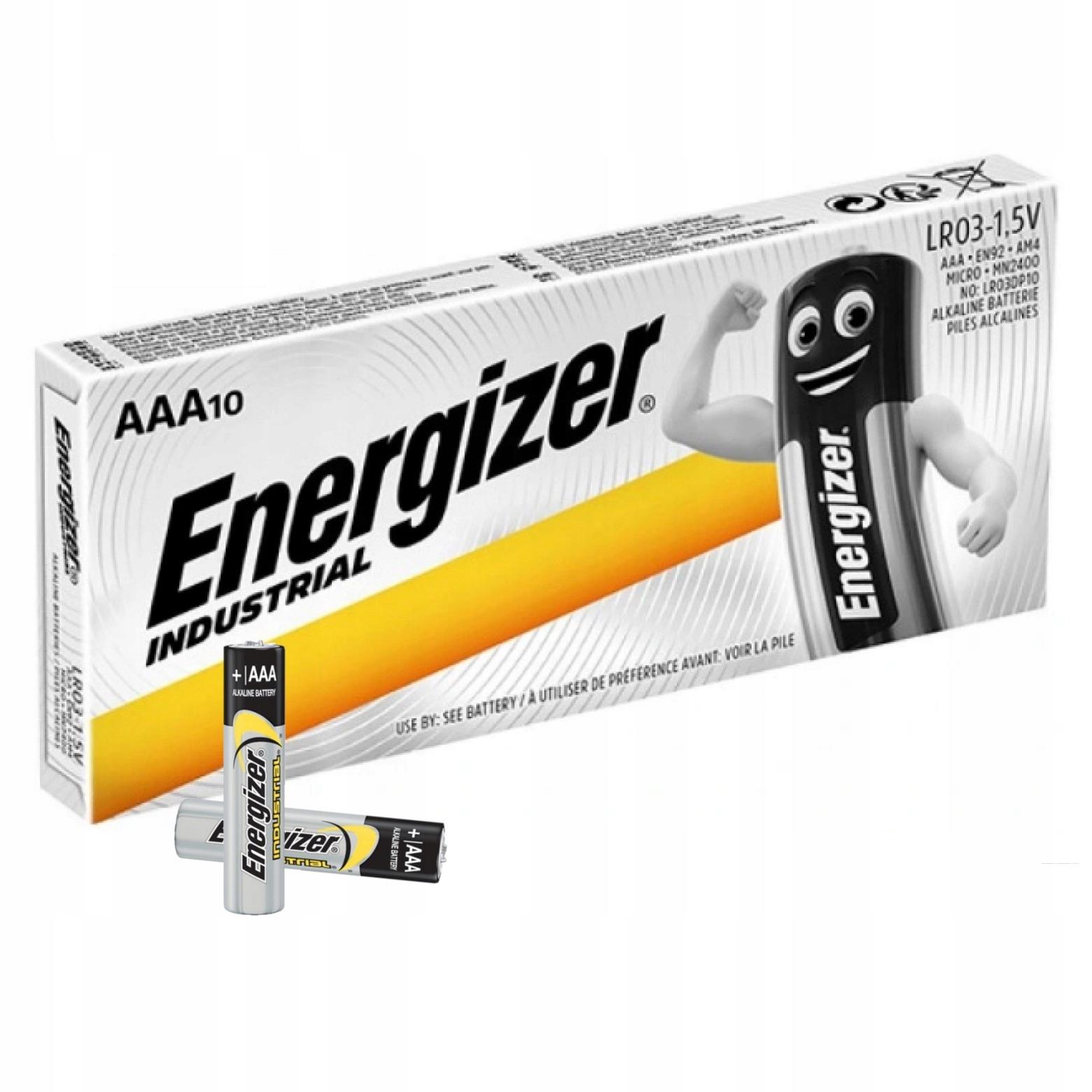 10x MOCNA BATERIA ENERGIZER INDUSTRIAL LR03 R3 AAA