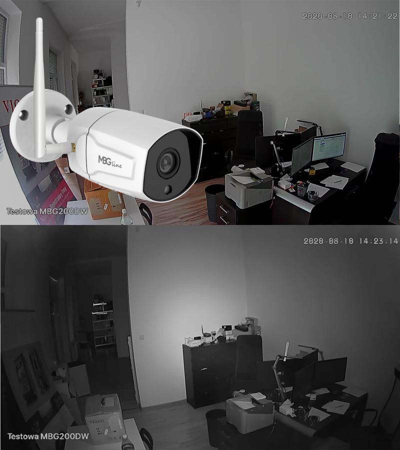 Zewnętrzna kamera IP H265 P2P Full HD METAL WIFI Rozdzielczość 2 Mpx