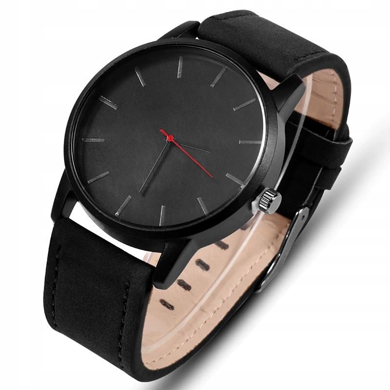 Zegarek męski czarny matowy elegancki klasyczny