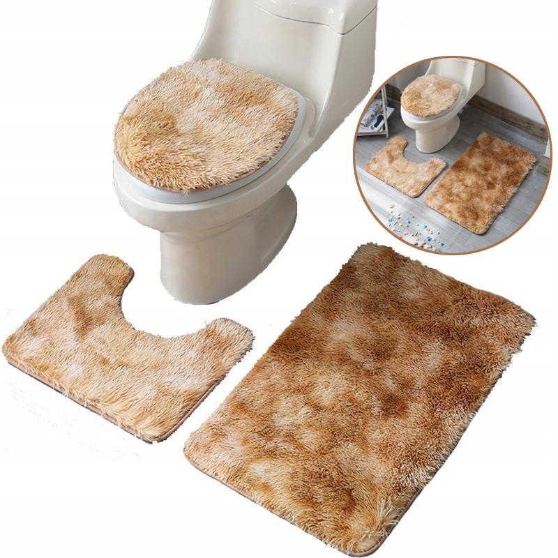 Sada 3ks plyšových kúpeľňových kobercov