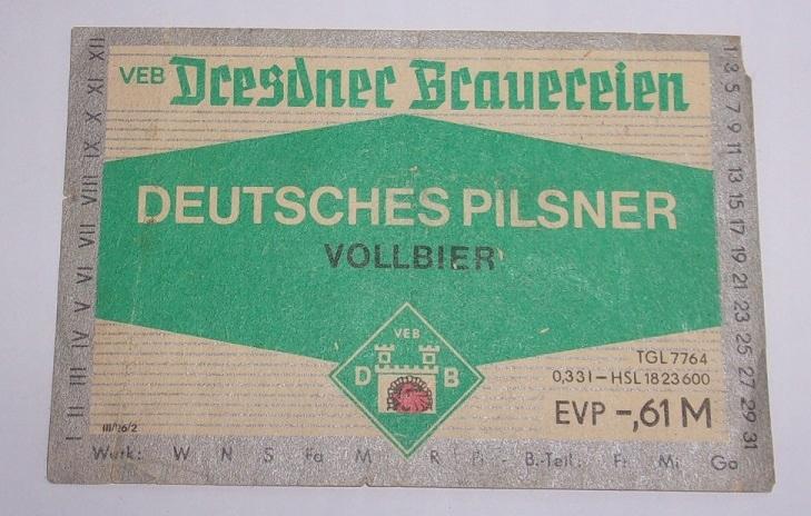Označenie piva Antique Dresdner Brauerien Pils