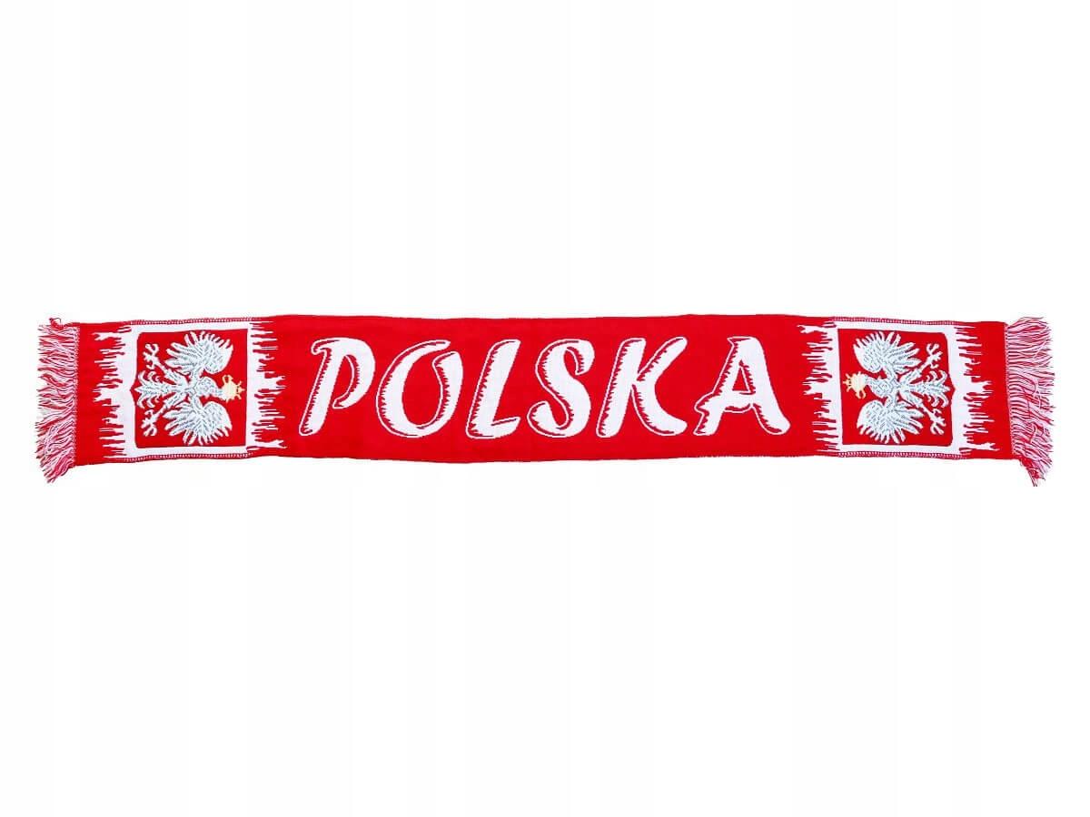 Купить шарфик односторонний BIALOCZERWONY 130X20CM POSLKA на Eurozakup - цены и фото - доставка из Польши и стран Европы в Украину.