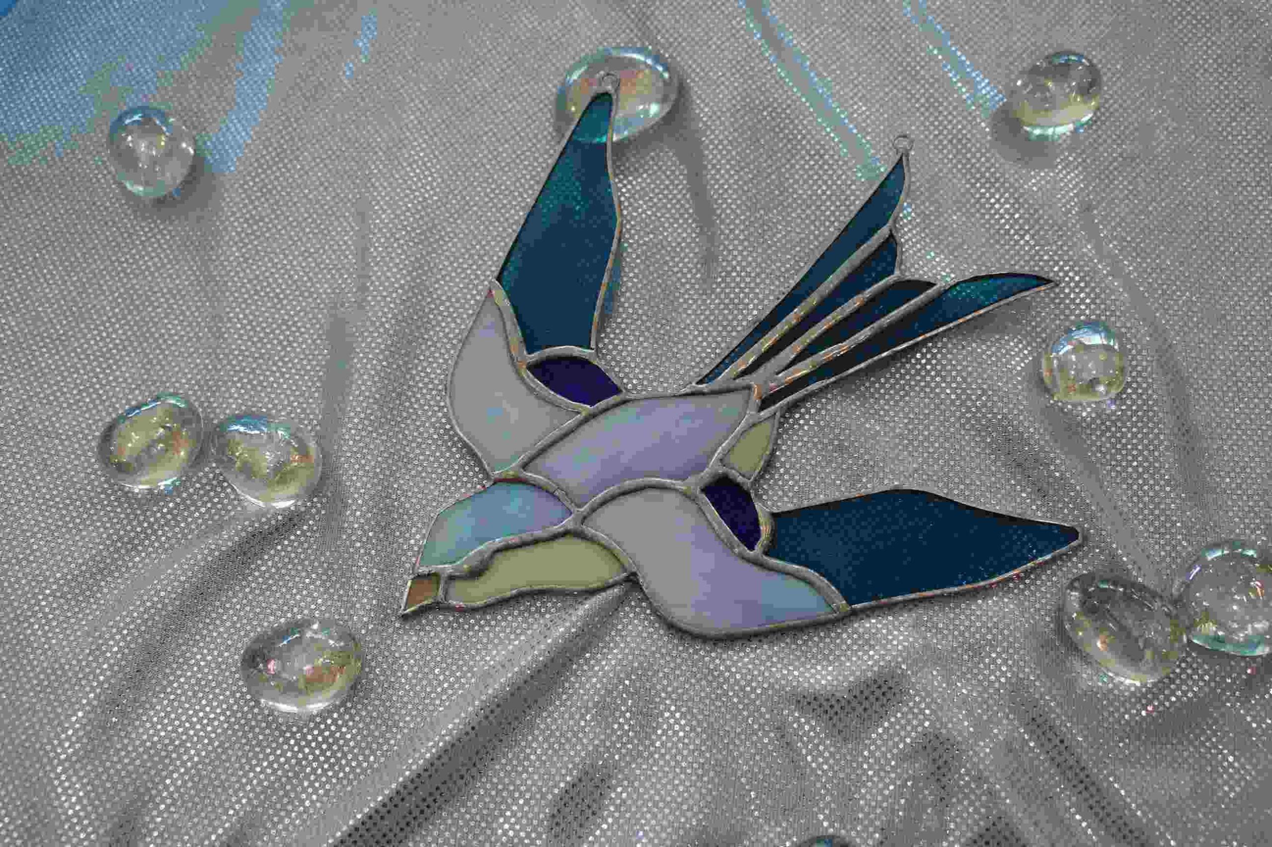 Витраж с ласточкой Tiffany Gift Blue Bird