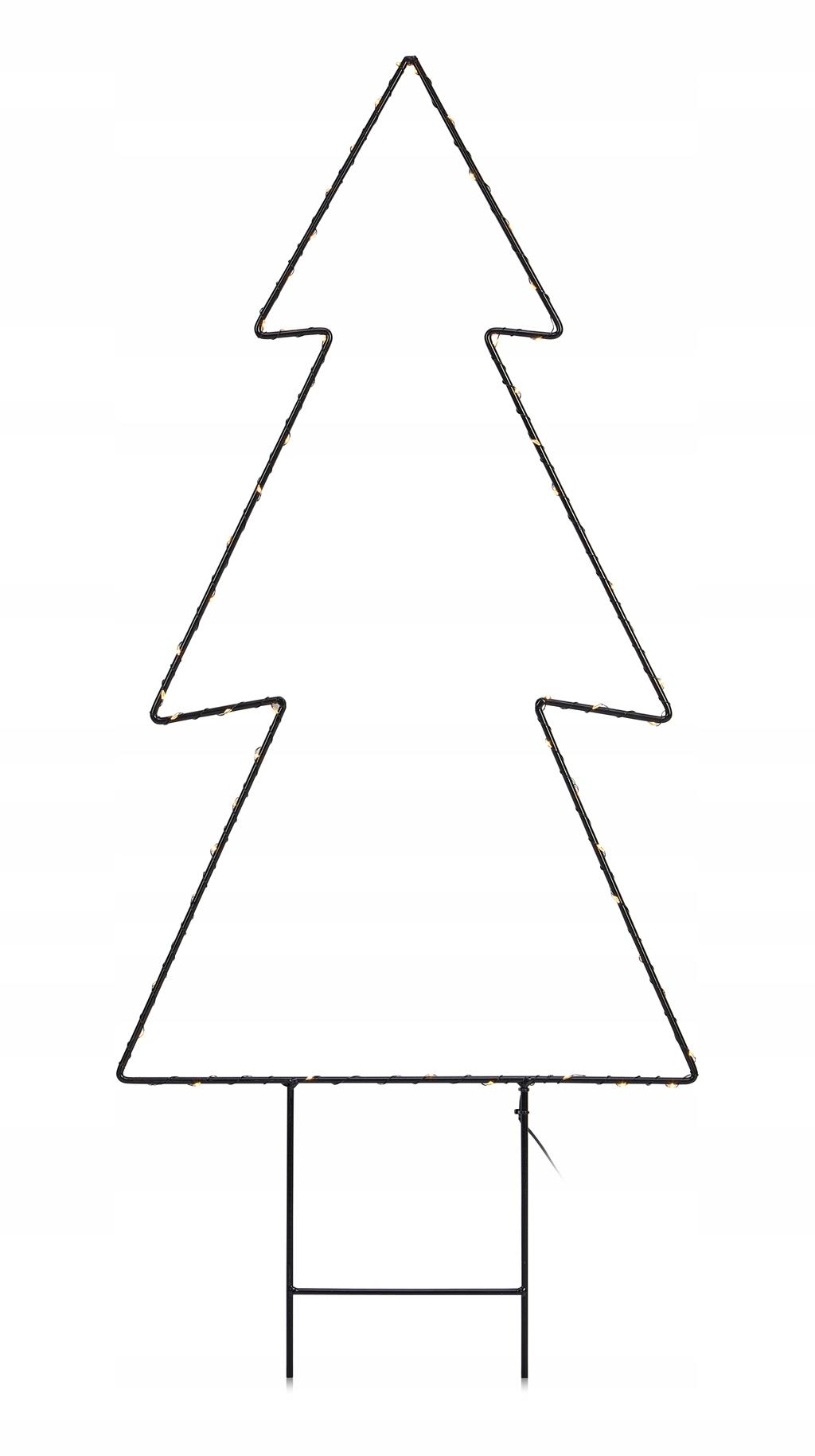 Čierny kovový vianočný stromček Markslojd MYSTIC