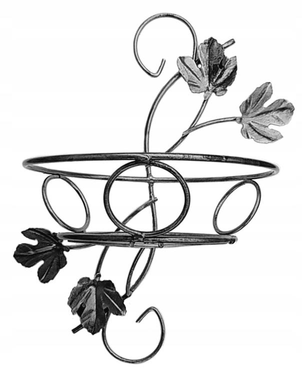 Kwietnik metalowy ścienny srebrny metaloplastyka