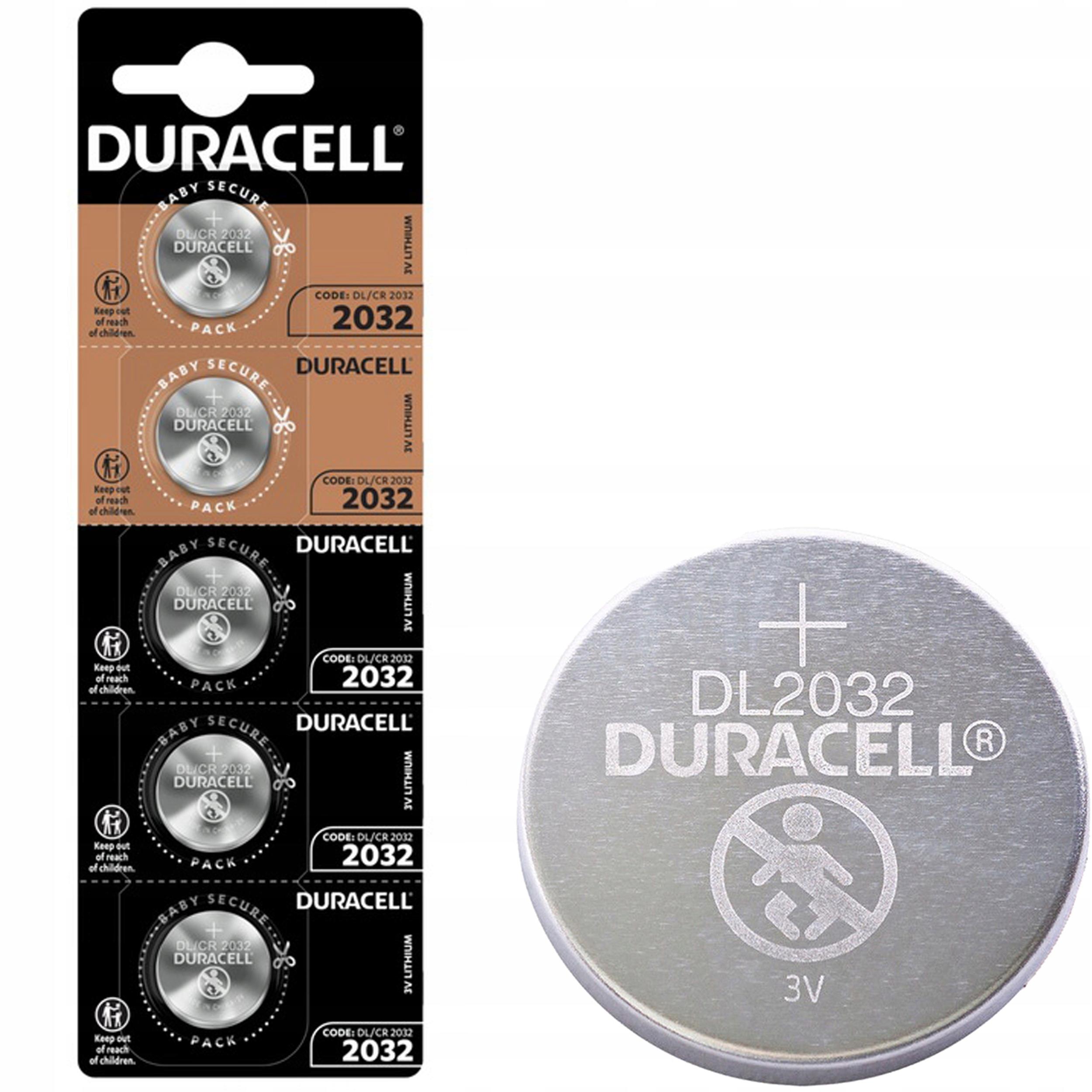5x Bateria litowa 2032 DL CR2032 3V Duracell