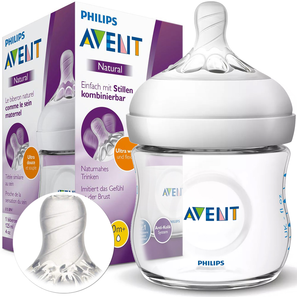 AVENT ANTI-COLK BOTTLE 125 мл NATURAL + соска