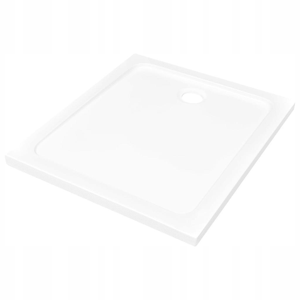 Biela obdĺžniková sprchová vanička ABS 80x90 cm