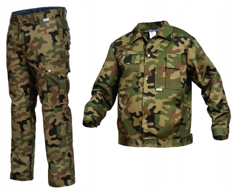 Ubranie dla wędkarza myśliwego moro spodnie 54