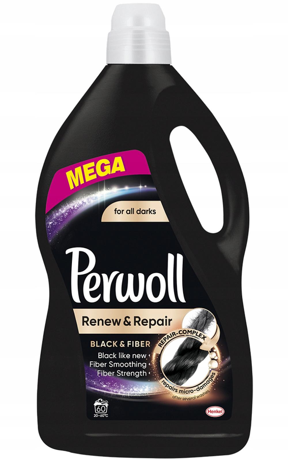 Perwoll Возобновить Ремонт Черная стиральная жидкость 60pr 3.6L