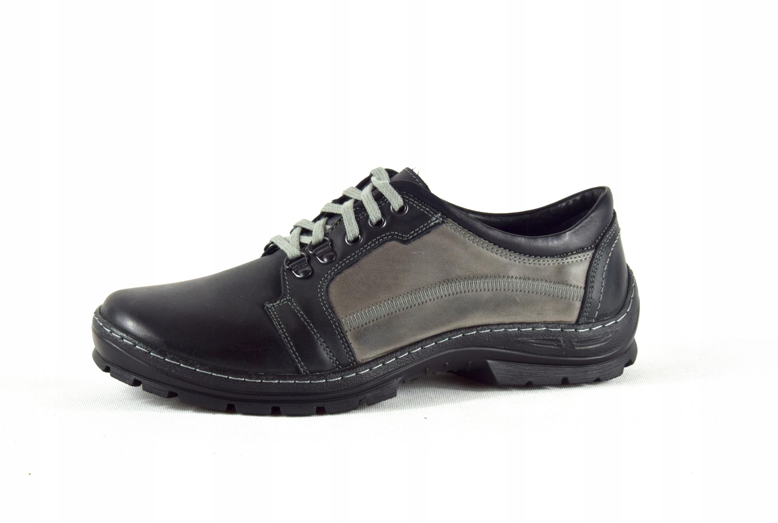 Półbuty trekkingowe męskie buty skórzane PL 192 Marka inna