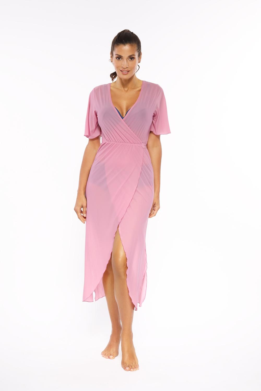 Tunika Hilda Soft Pink M-568 (6) 40/L Pudrowy Róż