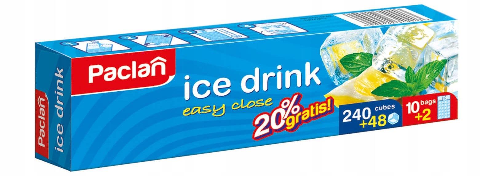 Paclan мешочки для льда самозакрывающиеся 240szt + 20