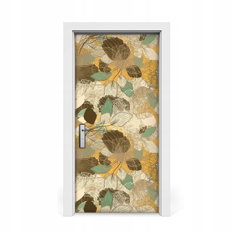 Nálepka na dvere Retro umelecká dyha 95x205