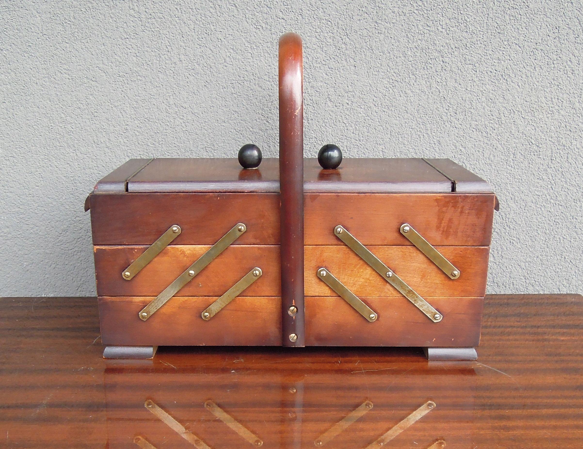 Niciak Szkatułka Organizer Art Deco Lata 50-te