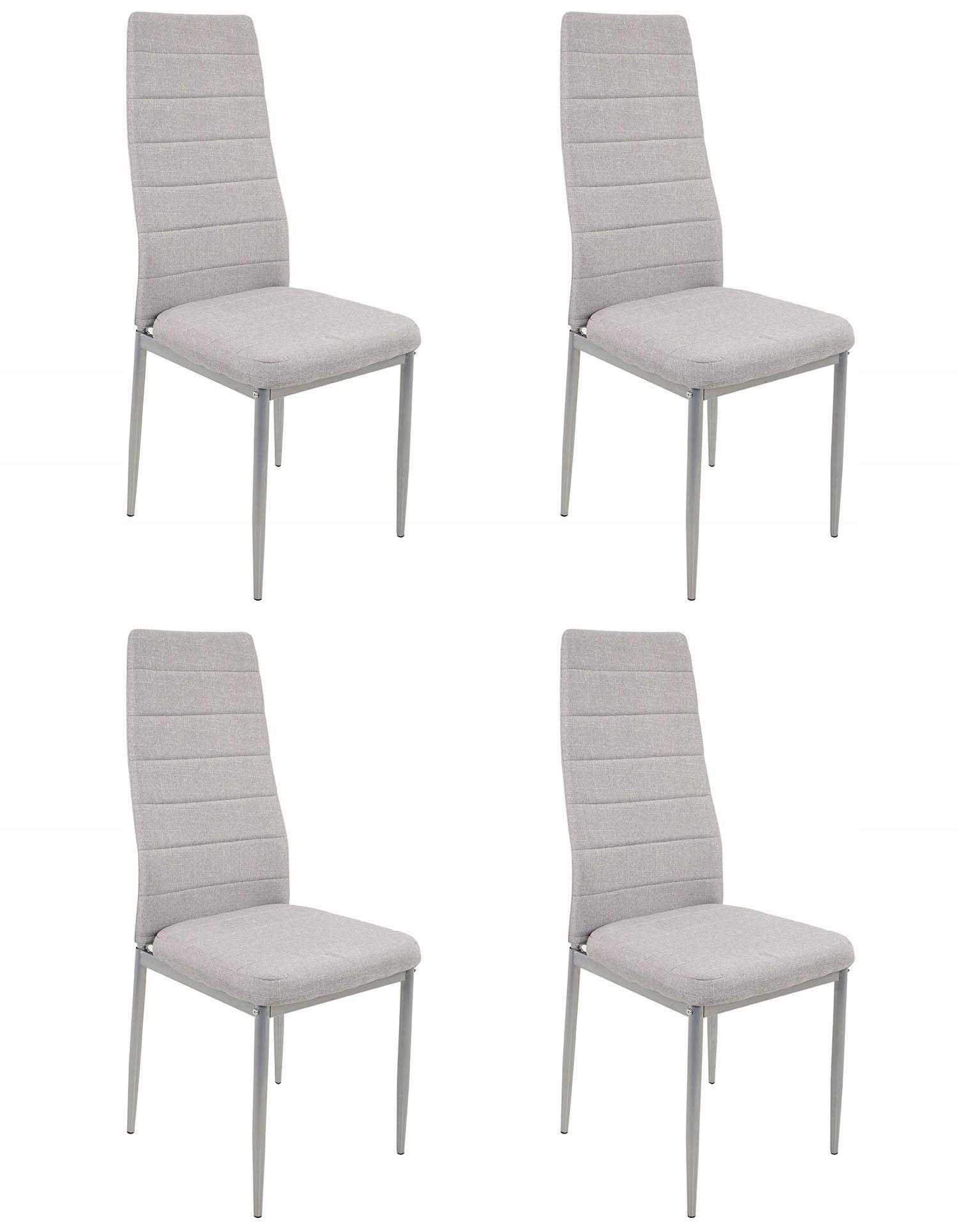 4 stoličky TEXTÍLIE, ŠEDÁ v kuchyni, priemyselné Záležitosti