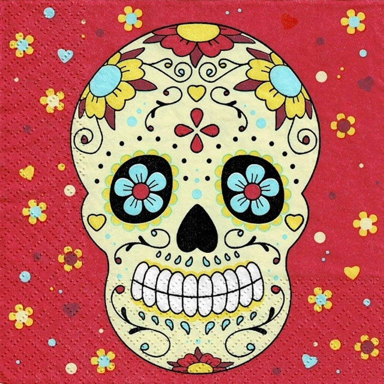 Салфетки декупаж 2шт 1.25 зл MEXICO череп