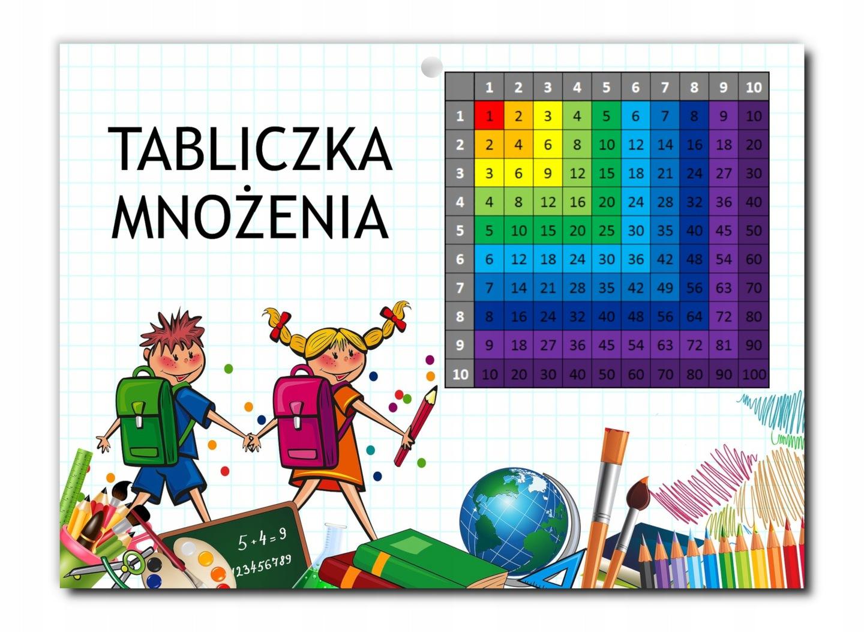 Картинка таблица умножения цветов для обучения А4