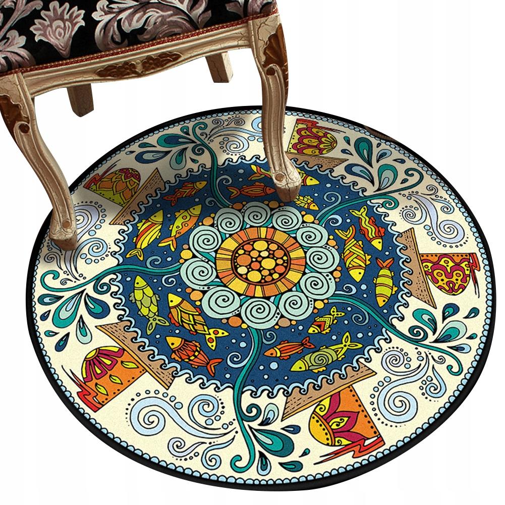 Okrúhly koberec, retro, etnický štýl 120 cm