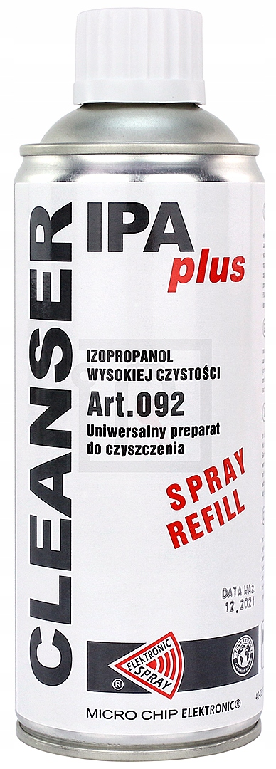 CLEANSER IPA ALCOHOL ISOPROPANOL 400ml REFILL