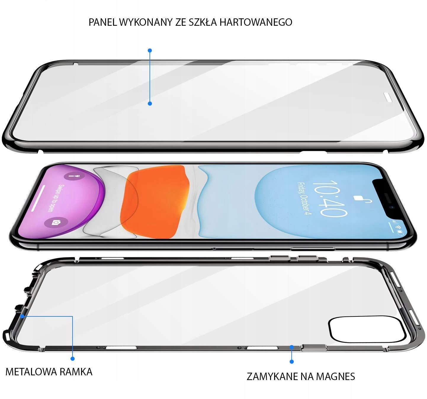 Etui Magnetyczne 360° do iPhone 12 / 12 Pro Przeznaczenie Apple