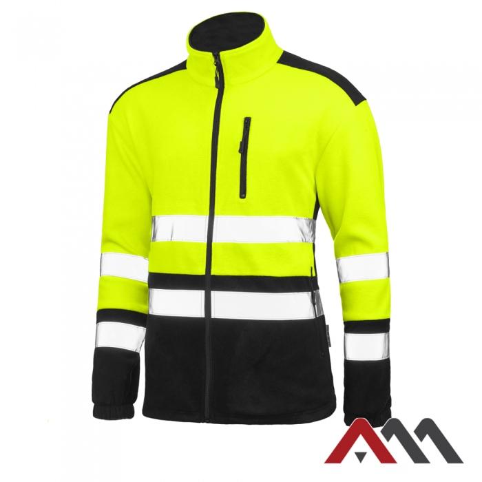 РАБОЧИЙ ФЛИС Флисовая куртка повышенной видимости, размер L.