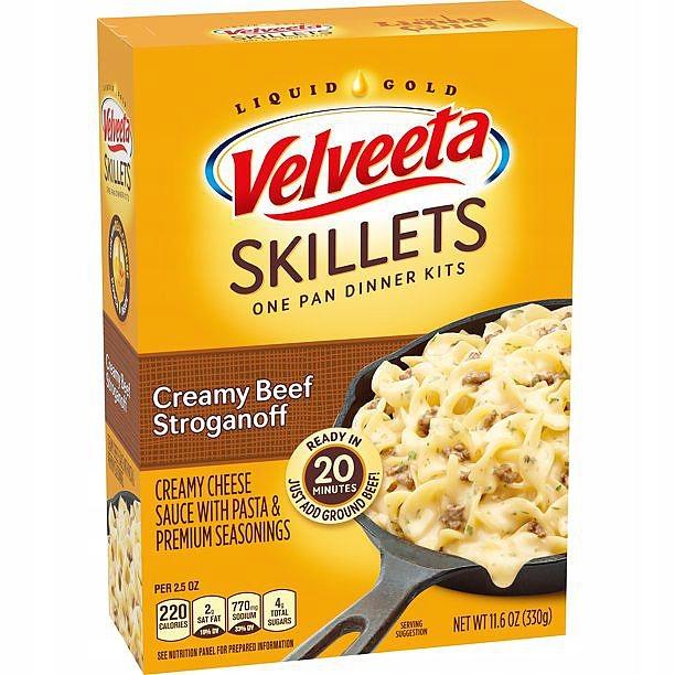 Velveeta Cheese Pasta Beef Stroganoff из США