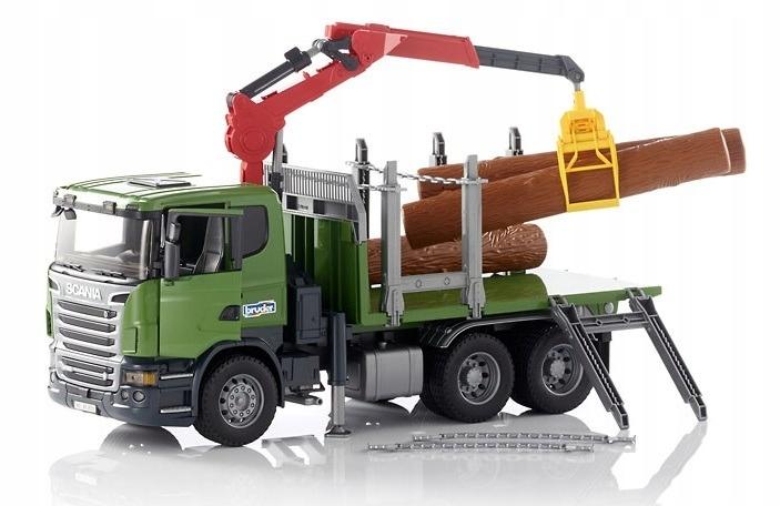 Bruder 03524 Scania s HDD žeriavom a guľatinou