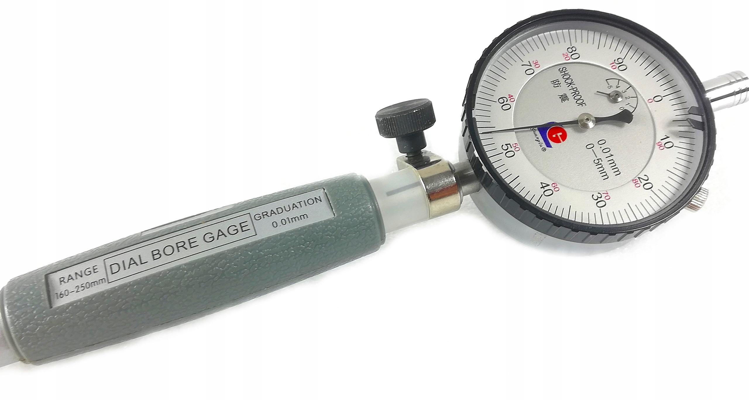 Średnicówka zegarowa 160-250mm GUANGLU