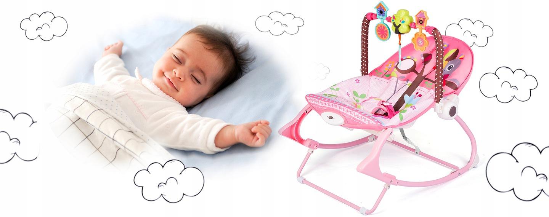 LEŻACZEK BUJACZEK 3w1 RICOKIDS 0+ WIBRACJE MUZYKA Waga dziecka 0 - 9 kg