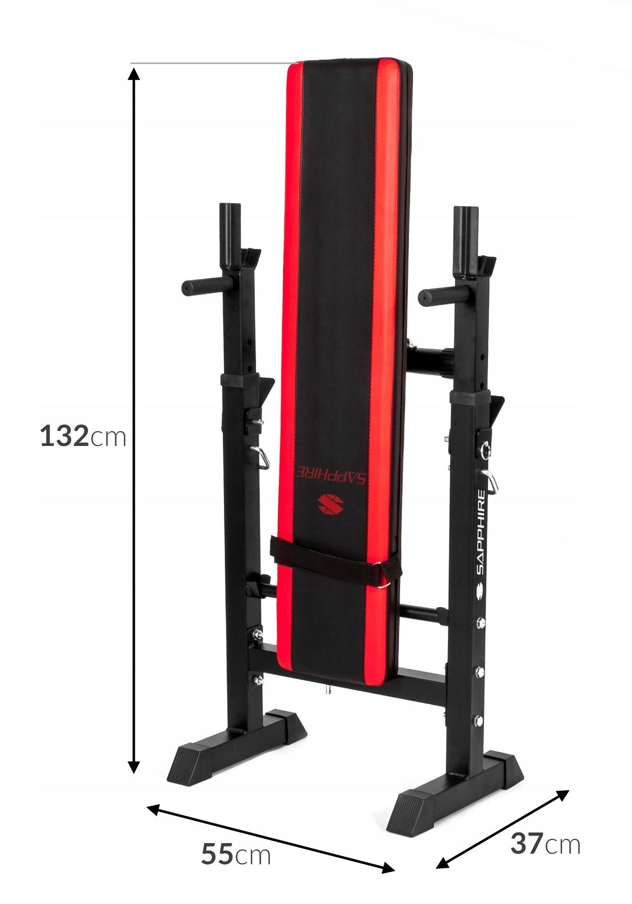 XYLO siłownia 82 kg zestaw ŁAWKA+GRYFY+OBCIĄŻENIA Wyposażenie dodatkowe stojaki