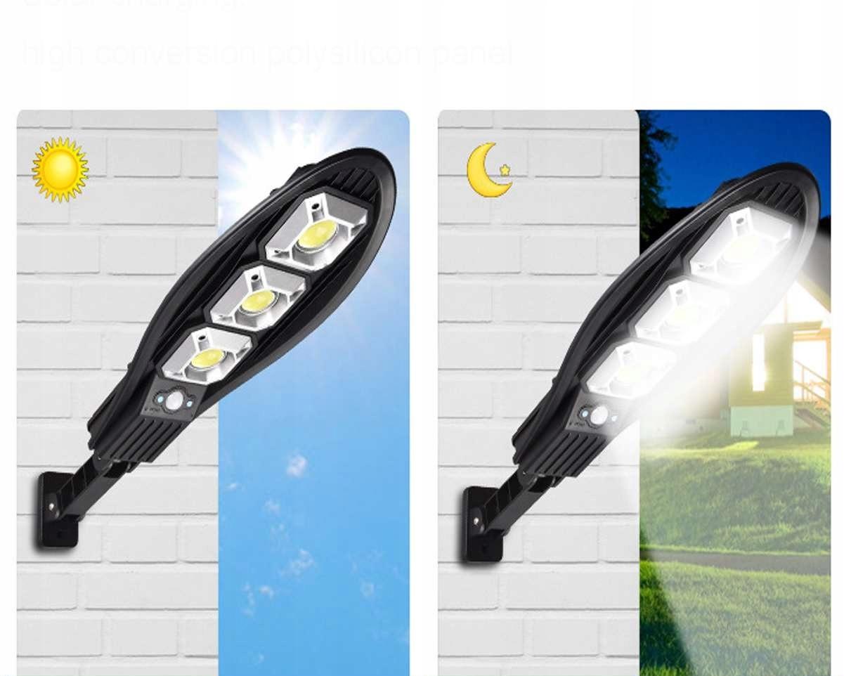 MOCNA LAMPA SOLARNA LATARNIA LED 180W + PILOT UCHW Moc lampy 180 W
