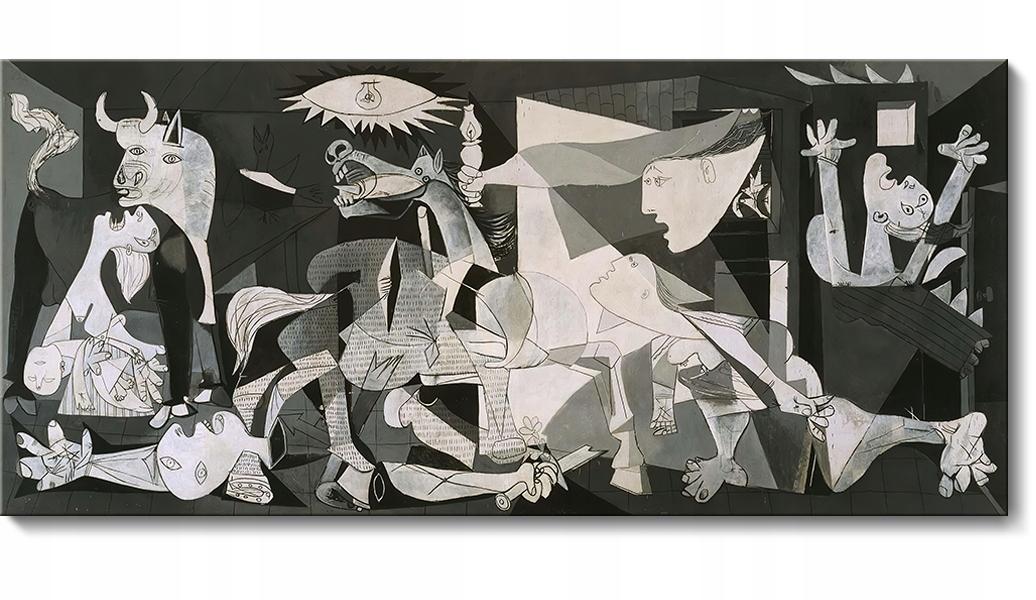Герника - репродукция картины Пабло Пикассо 150x68